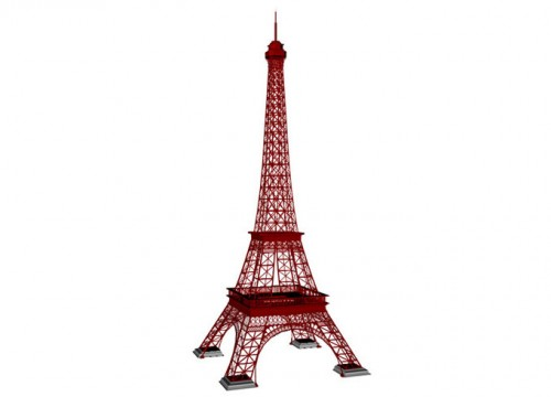 3D Modell vom Eiffelturm in Paris